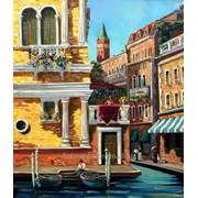 Картина пейзаж с видом Венеции маслом на холсте фото