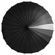Зонт-трость «Спектр», черный фото