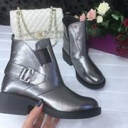 Женские кожаные ботинки на молнии с декором в расцветках. ДС-9-1018 (121) фото