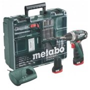 Шуруповерт METABO PowerMaxx BS Mobile Workshop New + набор аксессуаров (63 шт) (600079880) фото