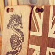 Современный деревянный чехол для Samsung S4 фото