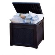 Кофейный столик - пуф с отделением для хранения Cube Rattan 208л (72,7х71,0х59см) фото