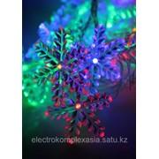 Гирлянда Космос Gir 30 LED RGB снежинки 4,4м фото