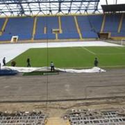 Востановление газона футбольных полей после зимы, морозов фото