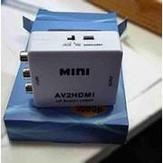 Хаб мини HDMI переходник на AV (колокольчики) фото