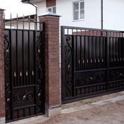 Ворота, калитки (изготовление, доставка, установка) фото