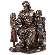 """Скульптура """"Проповедь Иисуса""""/ Библейские сюжеты 16х21х11см. арт.WS-414 Veronese фото"""