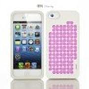 Силиконовый чехол iMobile Impression Laser Series для Apple iPhone 5/5S (Cherry / Pink) фото