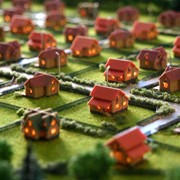 Изготовление макетов коттеджных поселков фото