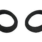 Проставка акустическая овал 6*9 без площадки КАРПЕТ черная с накладкой фото