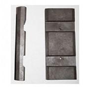 Лопатки для DB-300М (71,5х31х8,8 мм, коричневые, комплект 8 штук) фото