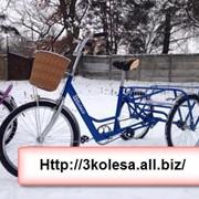 Трехколесный велосипед для взрослых Синий фото