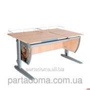 Стол универсальный трансформируемый СУТ.17.04-01 клен/серый с рисунком,фрегат фотография
