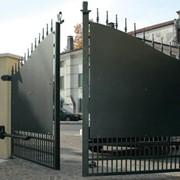 Ворота металлические. фото