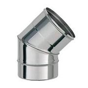 Колено 135° нержавеющее Ferrum 430/0.8 мм ф150 фото