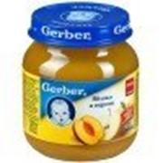 Пюре Gerber Яблоко, персик, с 5 мес 130 гр фото