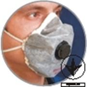 Респиратор АЛИНА-АВ - противогазоаэрозольный с клапаном выдоха ТУ У 33.1-22897982-002:2007. Класс защиты - FFP2 D по ДСТУ EN 149:2003. фото