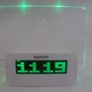 Часы - будильник со светящейся доской фото