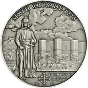 Серебряная монета в футляре Шестой Крестовый поход - Фридрих II Штауфен император Священной Римской империи фото