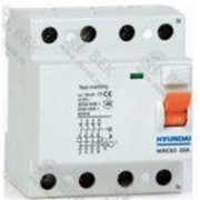 Устройство защитного отключения HIRC63 4PG4S0000C 00016G , 4P, 16A, 30mA фотография