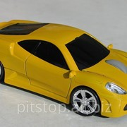 Мышка компьютерная беспроводная Ferrari F430 желтая фото