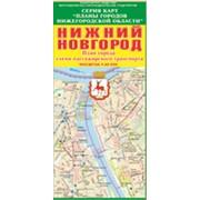 Складная карта Н. Новгород/Дзержинск Схемы пассажирского траспорта