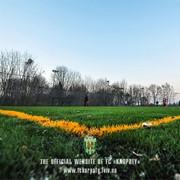 Строительство футбольного поля, искуственная трава фото