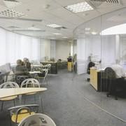 Цельностеклянные офисные перегородки фото