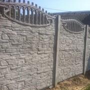 Забор железобетонный Скала-Булыжник фото
