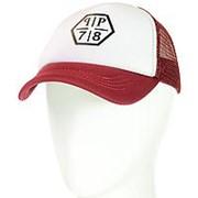 Бейсболка TND18002 белый-бордовый фото