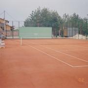 Строительство. Строительство теннисных кортов. фото