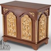Стол литийный деревянный №3 с позолоченными элементами фото
