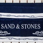 Полотенце пляжное Sand&Stone-Blu Navy (Египет) фото