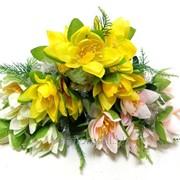 """Цветок искусственный """"Лилия букет с зеленью КР80019"""" фото"""