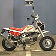 Мопед мокик Honda Monkey Baja рама Z50J гв 1991 пробег 8 т.км белый красный фото