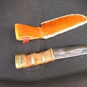 Нож с ножнами фото