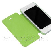 Чехол Hoco for iPhone 5/5S Ice series Leather case Green (HI-L035GR), код 51896 фото