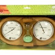 Термометр и гигрометр для бани с песочными часами, Везувий фото