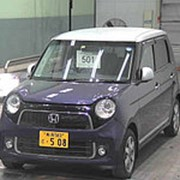 Хэтчбек турбо HONDA N ONE кузов JG1 модификация Premium Tourer гв 2013 пробег 38т.км фиолетовый хамелеон белый фото