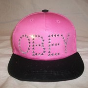 Кепка рэперская с прямым козырьком OBEY розово-черная фото