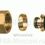 Концовка для металлопластиковых труб 20х2,25 с латунной накидной гайкой М33х1,5, артикул FC 6056 263264 фото
