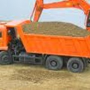 Песок строительный речной. фото