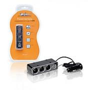 Разветвитель прикуривателя на 3 гнезда + USB 5А 60Вт ASP-3U-07 фото