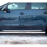 Пороги Peugeot 3008 2010-2017 (вариант 2 труба 63 мм) фото