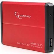 Корпус для HDD 2.5 SATA Gembird EE2-U3S-2-S-R до 2 Тб, алюминиевый, красный usb 3.0 фото