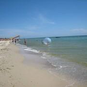 Отдых на Черном море.Летний отдых. Отдых Лазурное, песчаный пляж. фото