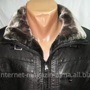 Куртка зимняя кожзам фото