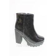 Зимние кожаные ботинки арт. 50207 фото