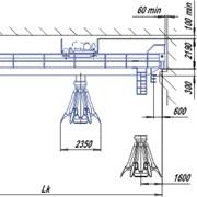 Кран мостовой магнитно-грейферный фото