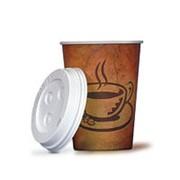 Стаканы бумажные для горячих напитков кофе 400мл. 12oz фото